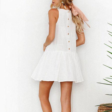 Dress sexy button special summer women clothing - Ladies Clothing Dresses