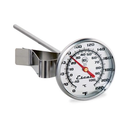 Read Dial Thermometer - Escali AH3, Instant Read Large Dial Thermometer, 0°F to 220°F, NSF Certified