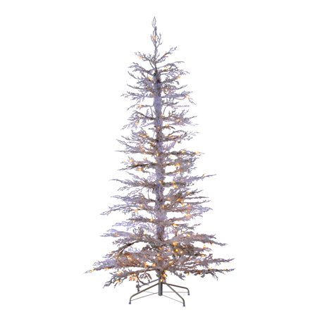 Sterling 6.5ft. Pre-Lit Flocked White Twig Tree with 200 Clear Lights