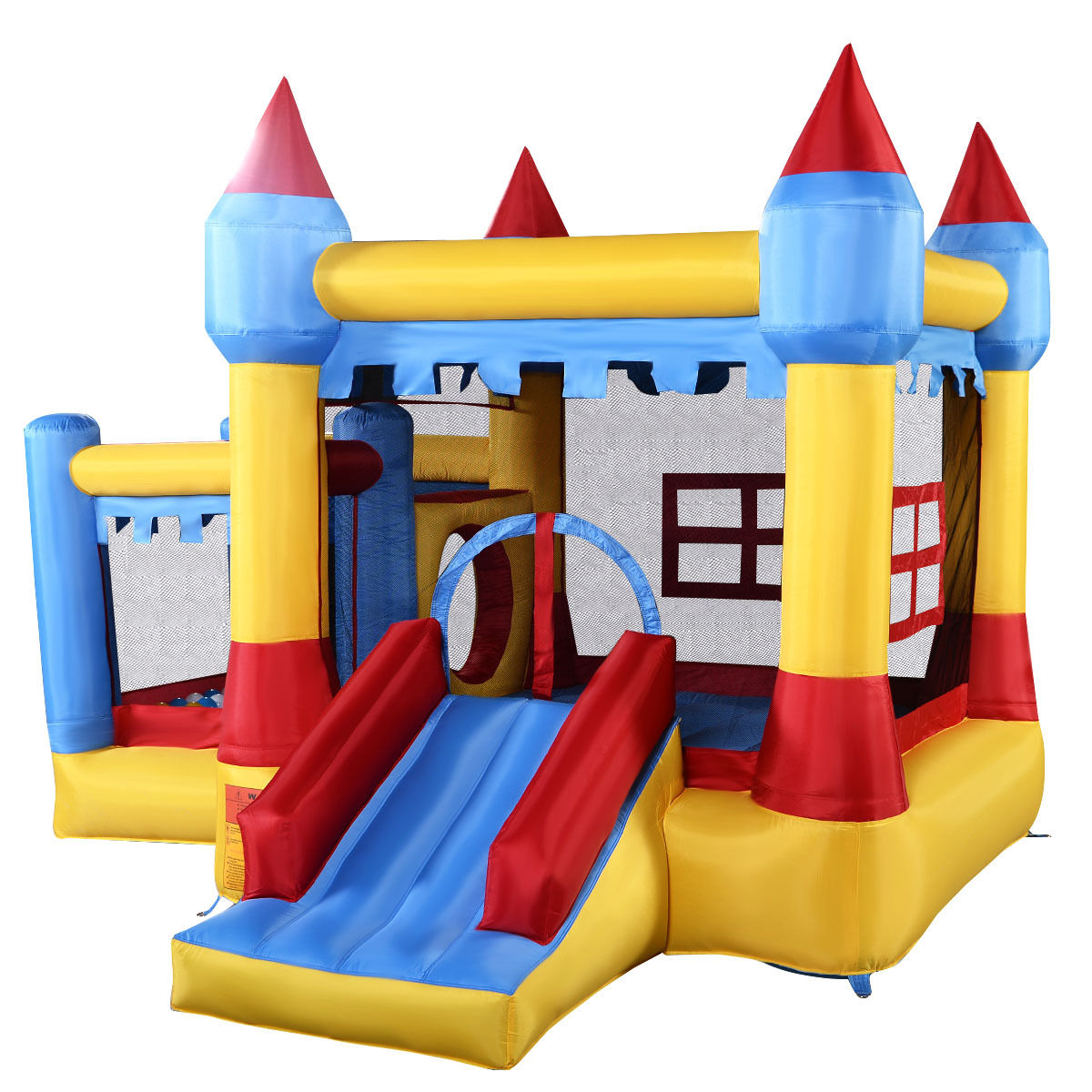 Generic Inflatable Bounce House Castle Commercial Kids Jumper Moonwalk With Ball Without Blower by Costway
