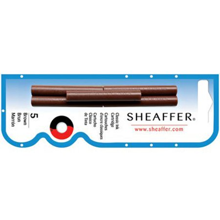 Refills Brown 5 Pack Fountain Pen Cartridge - SH-96360, Fountain Pen Cartridge By Sheaffer Ship from US ()