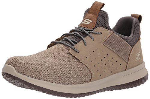 Skechers Men's Classic Fit-Delson-Camden Sneaker,Taupe,7 M US