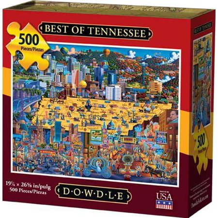 Best Jigsaw Puzzle - Dowdle Jigsaw Puzzle - Best of Tennessee - 500 Piece