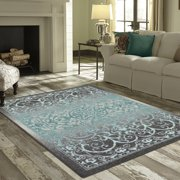 Mainstays India Textured Print Area Rug Or Runner Collection