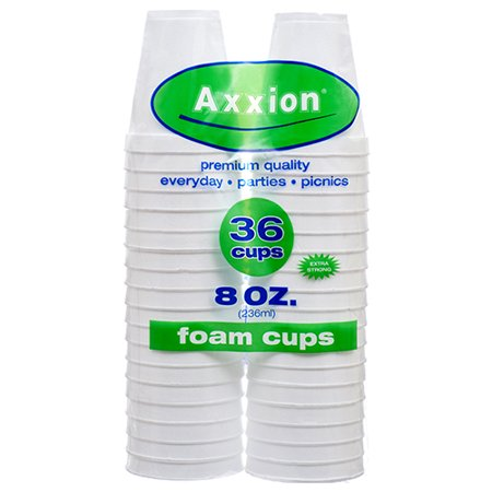 New 369408  Axxion Foam Cups 8 Oz 36 Ct (24-Pack) Plates Cheap Wholesale Discount Bulk Party Supplies Plates - Styrofoam Planes