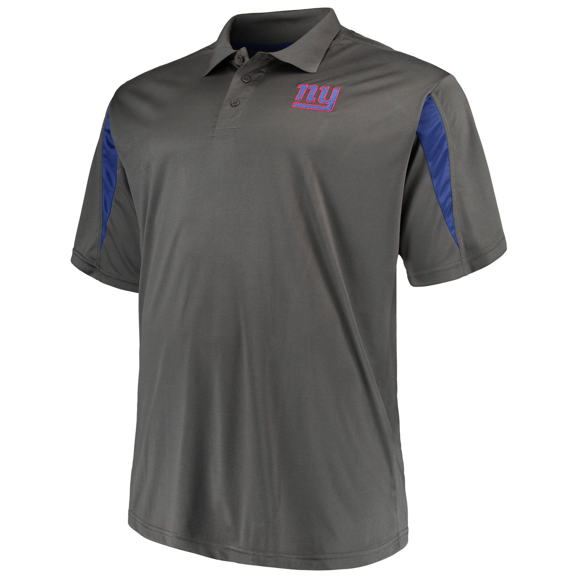 Men's Majestic Charcoal New York Giants Big & Tall Pieced Polo