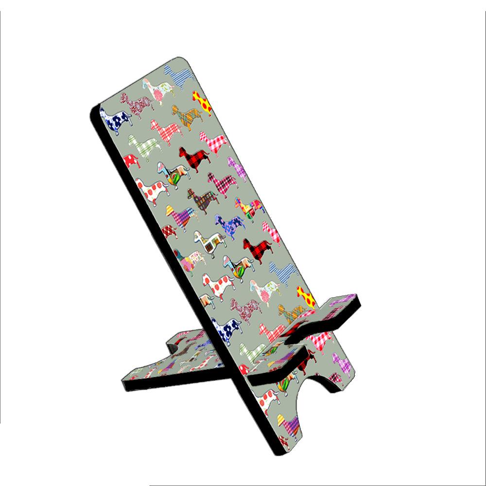 Floral Daschund Dog - KuzmarK Folding Stand fits iPad Mini iPhone Samsung Galaxy
