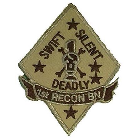 USMC FIRST I 1ST RECON BN BATTALION PATCH SWIFT SILENT DEADLY MARINE CORPS - 1st Recon Battalion