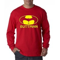 195 - Unisex Long-Sleeve T-Shirt Buttman Batman Logo Parody