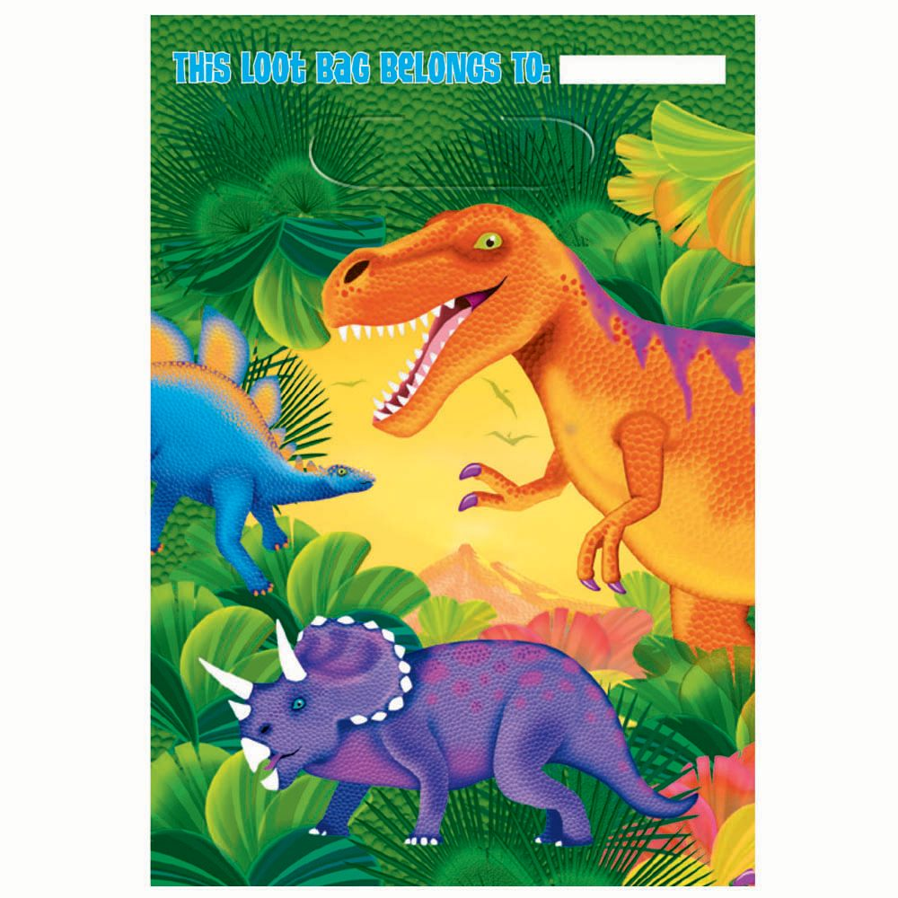 Dinosaur Party Loot Bags - Party Supplies