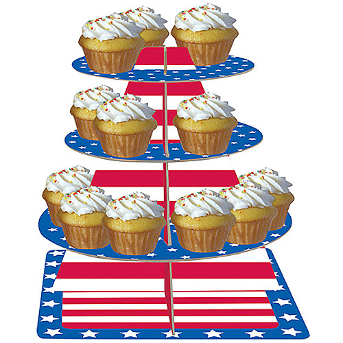 Stars and Stripes Tiered Server, Blue