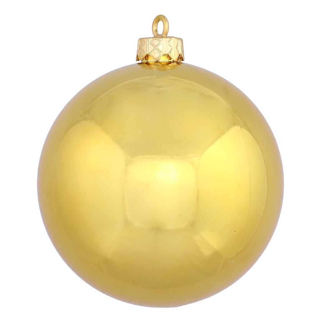 "Vickerman 480977 - 2.4"" Gold Shiny Ball Christmas Tree Ornament (24 pack) (N590668DSV)"