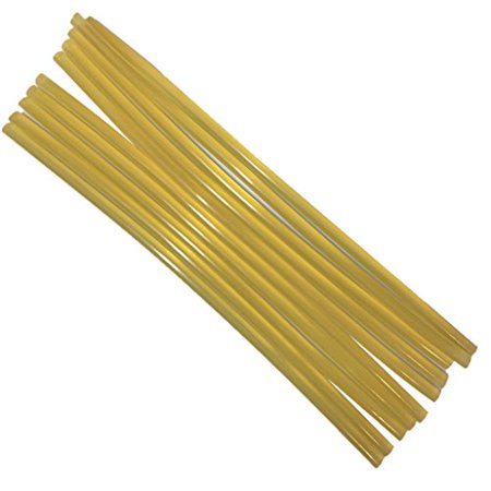 TrendBox Pack of 20 Crystal Yellow 11mmx270mm - Hot Melt Glue Sticks Strips Melting Adhesive For Handmade Craft DIY Home Office Project Craftwork Fix & Repairs