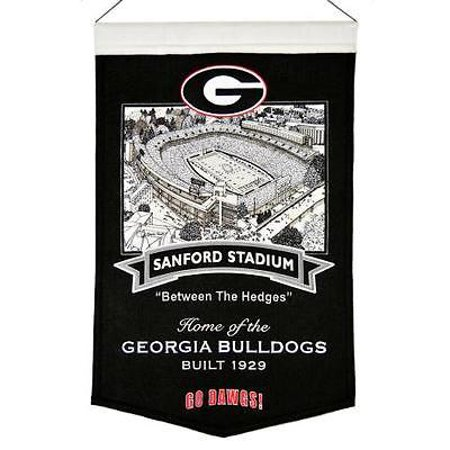 - Georgia Bulldogs Wool Stadium Banner - Sanford Stadium