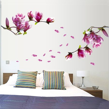 Lily Flowers Wall Decals Live Gallery Beautiful Lovely Removable Diy Art Decor Wall Stickers Murals For Living Room Tv Background Kids Girls Rooms Bedroom Decoration Walmart Canada