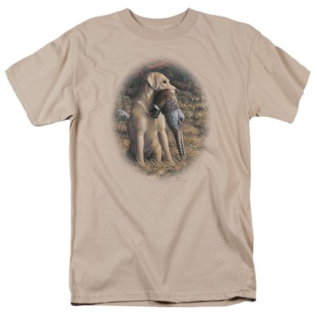 Wildlife/Yellow Lab With Pheasant   S/S Adult 18/1   Sand     Ww146 (Halloween Sang)