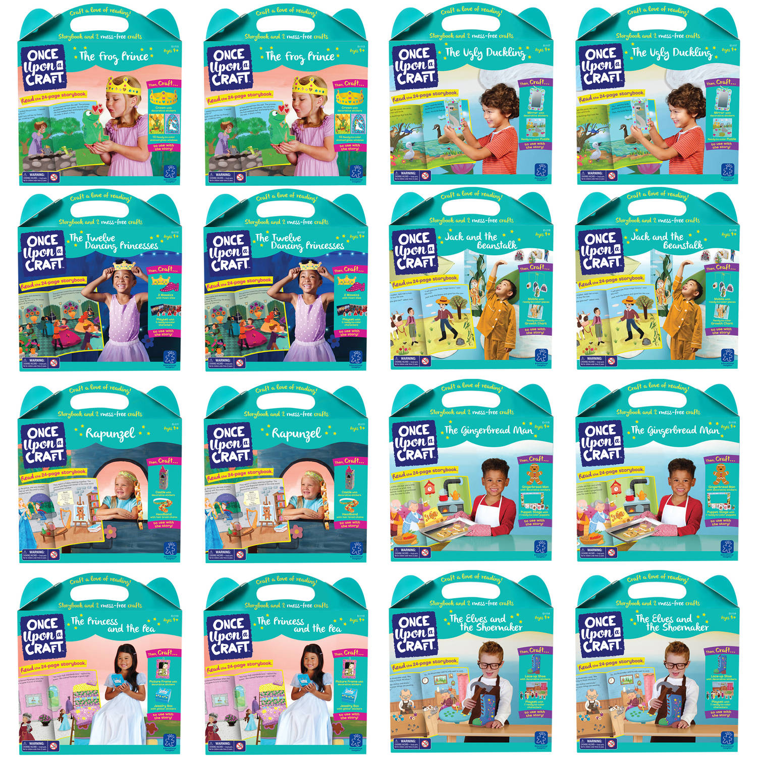 Educational Insights Once Upon A Craft Party Pack, Set of 16