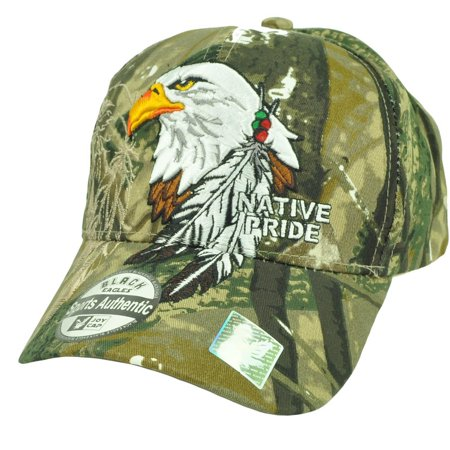 - Native Indian American Pride Bald Eagle Shadow Feather Hat Cap Camouflage Camo