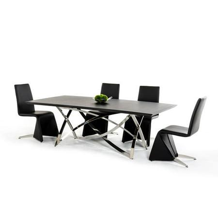 Modern Wenge Dining Table Set 8 Pcs Classic VIG Modrest Labyrinth