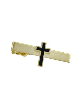 Gold Plated Christian Cross Tie Bar Clip Business
