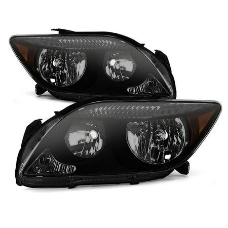 VIPMOTOZ Black Smoke OE-Style Headlight Headlamp Assembly For 2005-2007 Scion tC, Driver & Passenger Side