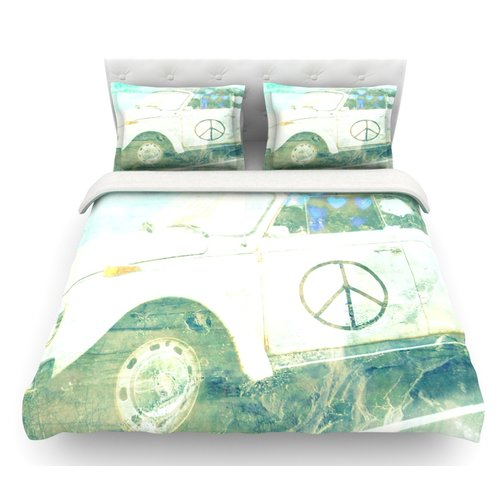 East Urban Home Love Bug by Robin Dickinson Featherweight Duvet Cover