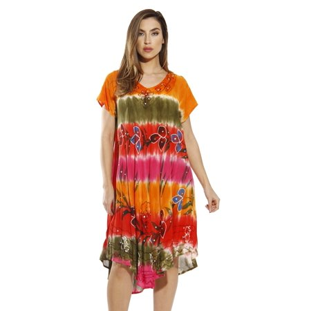 2469b8906eeb2 riviera-sun - riviera sun hand painted dress / dresses for women (fuchsia,  1x) - Walmart.com