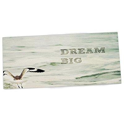 Kess InHouse robin dickinson dream big ocean bird office ...