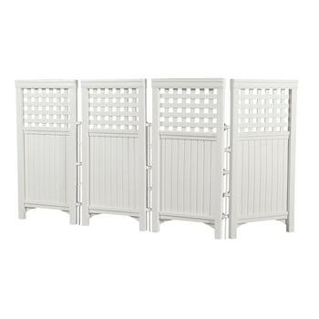 Suncast 4-Panel Outdoor Steel & Resin Freestanding Screen Enclosure