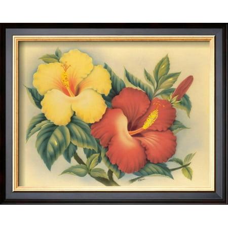 Hawaiian Hibiscus Framed Art Print Wall Art By Eve Hawaii - 16x13 ...