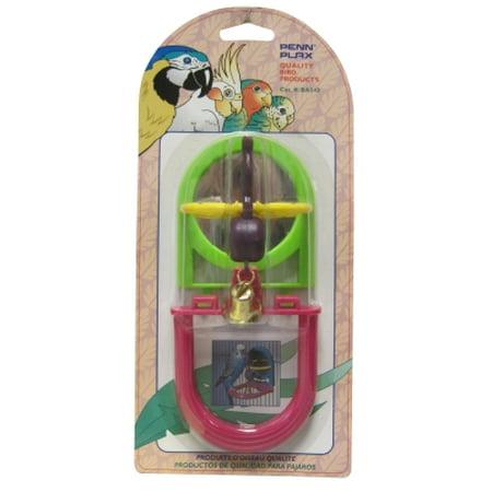 Penn-Plax BA543 Jingle Bird Toy with Mirror and Perch, 3-1/4 Inch Length x 4 Inch Width x 3-3/4 Inch Height, 0.24 (Mirror Perch)