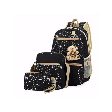Women bags School Backpack Girl Fashion Shoulder Bag Canvas Travel bags  Rucksack - Walmart.com b8f3373cbb