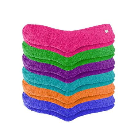 Solid Color Toasty Plush 6 Pack Fuzzy Socks (Best Fuzzy Socks Brand)