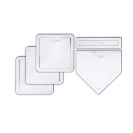 Franklin Sports MLB Baseball & Softball 5 Piece Throw-Down Rubber Base Set