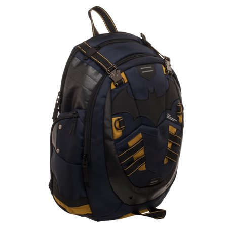 DC Batman Backpack - Built-Up DC Backpack Inspired by Batman (Batman School Supplies)