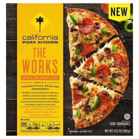 CALIFORNIA PIZZA KITCHEN The Works Crispy Thin Crust Frozen Pizza 14.2 oz -  NESTLE USA/PIZZA, 0007192124537