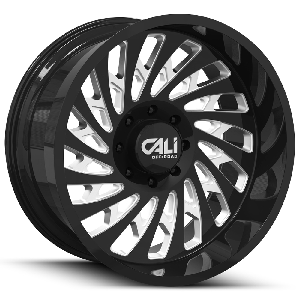 20 Inch Cali Off-Road 9108 Switchback 20x12 6x5.5 -51 Black/Milled Wheel Rim