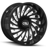 "Cali Off-Road 9108 Switchback 22x12 8x170 -51mm Black/Milled Wheel Rim 22"" Inch"