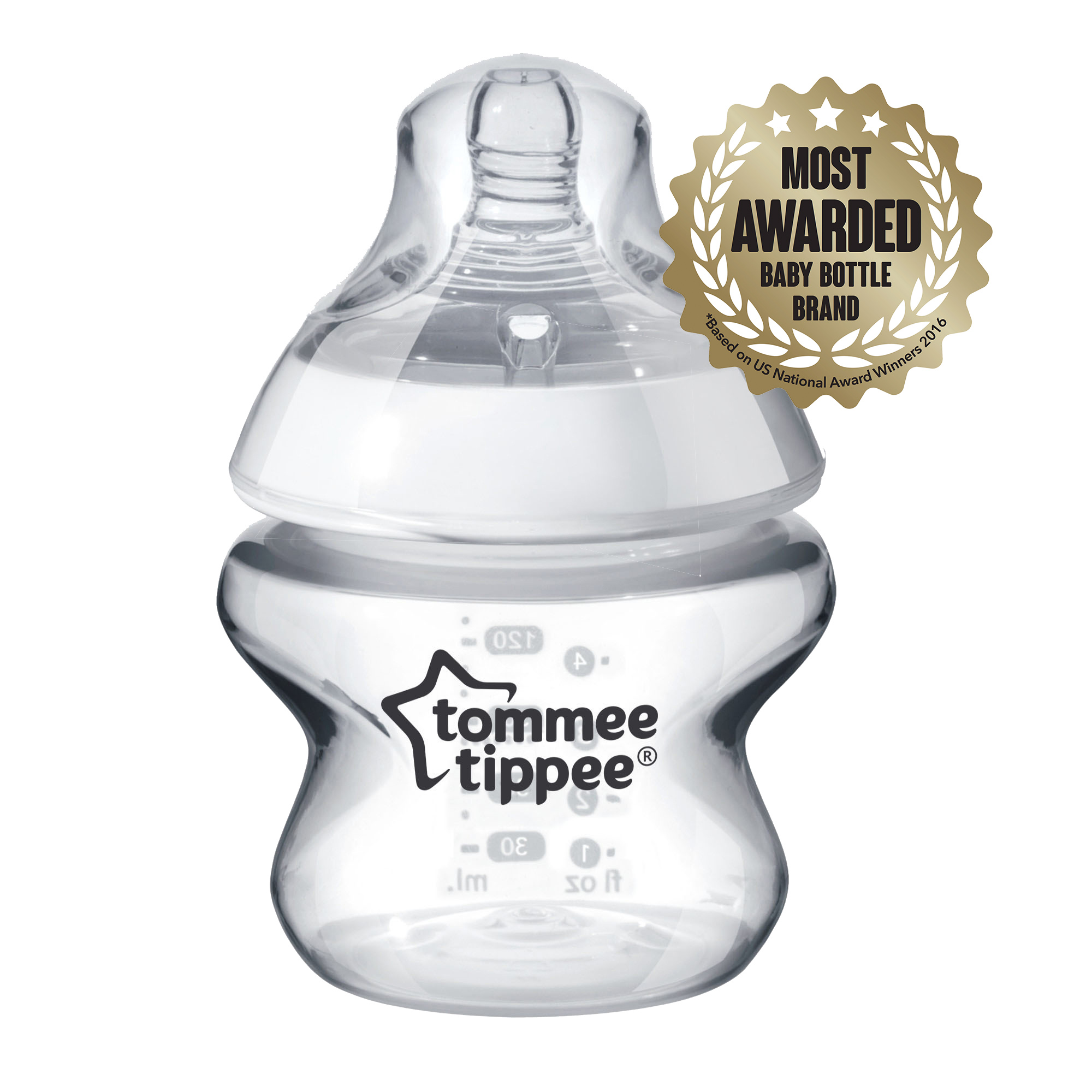 Tommee Tippee Closer to Nature 5-oz Baby Bottle, BPA-Free
