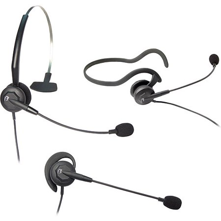 VXI 202783 Tria-V Convertible Monaural Single-Wire Headset by