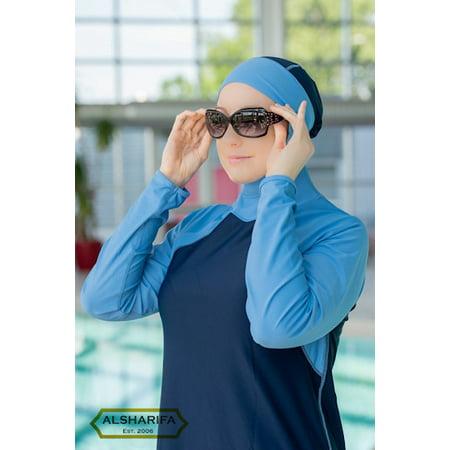 Full-Cover Swimwear | ALSHARIFA LAGUNA Swimsuit for women | NavySky | Bust Size