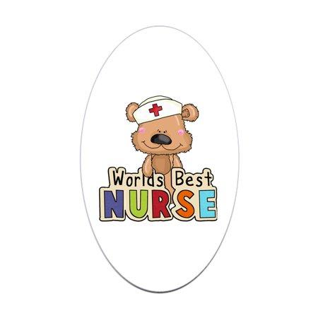 CafePress - The World's Best Nurse - Sticker (Best Drug App For Nurses)