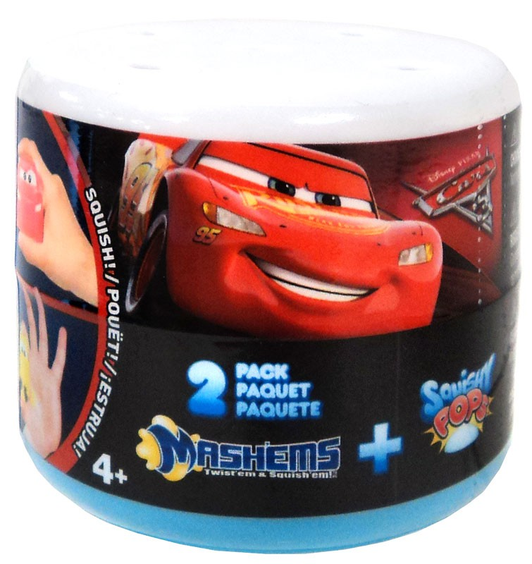 Disney Cars Mash'Ems + Squishy Pops Mystery 2-Pack