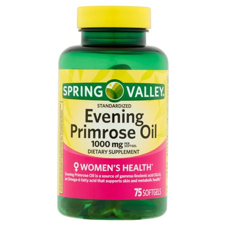 Spring Valley Womens Health Evening Primrose Oil Softgels  1000 Mg  75 Ct