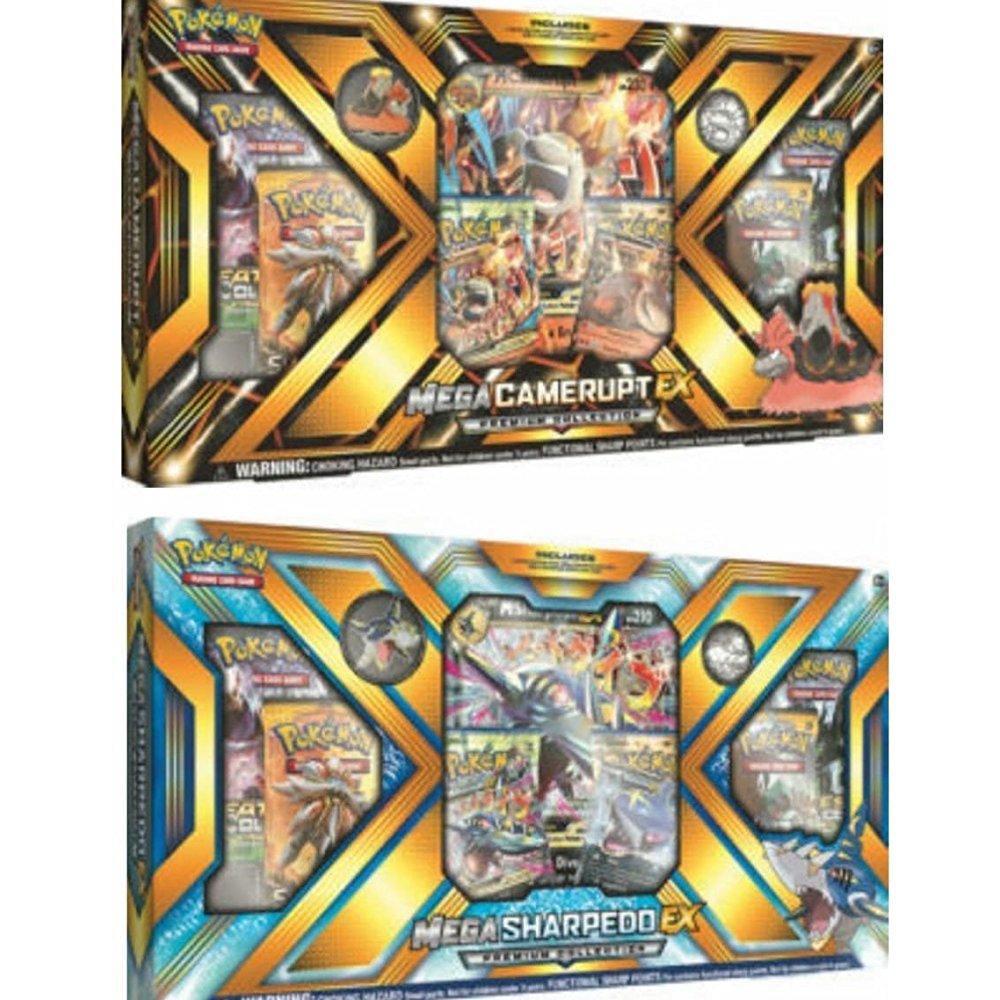 Pokemon tcg: mega sharpedo-ex ; mega camerupt-ex premium ...