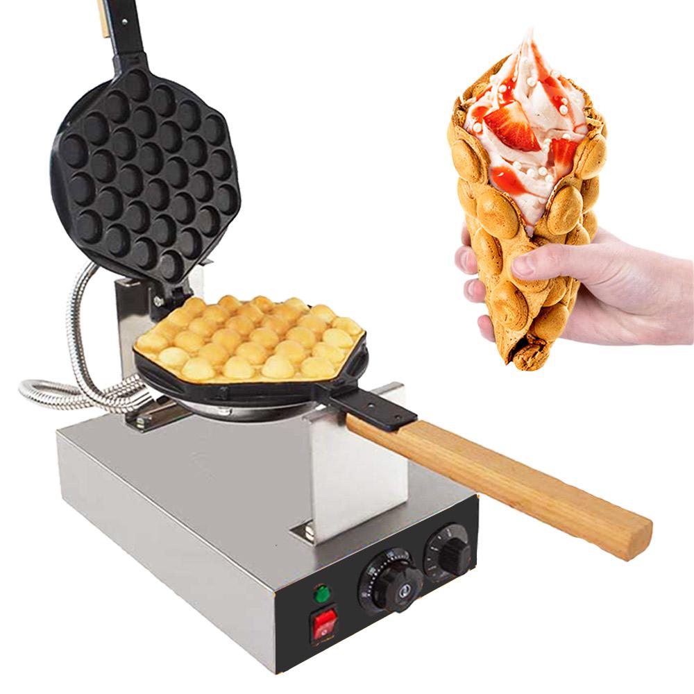 1400W Electric Bubble Waffle Maker Puff Egg Eggettes Rotating Machine NEW