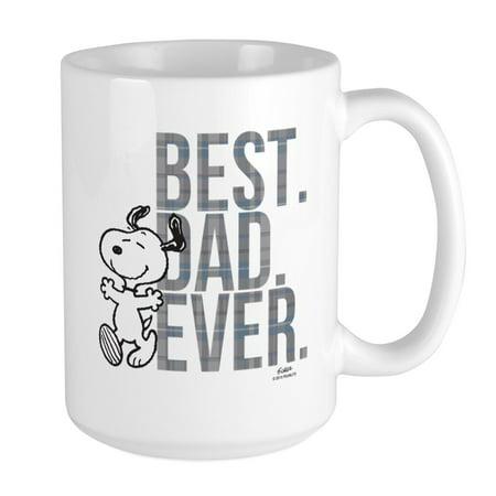 CafePress - Snoopy Best Dad Ever Large Mug - 15 oz Ceramic Large