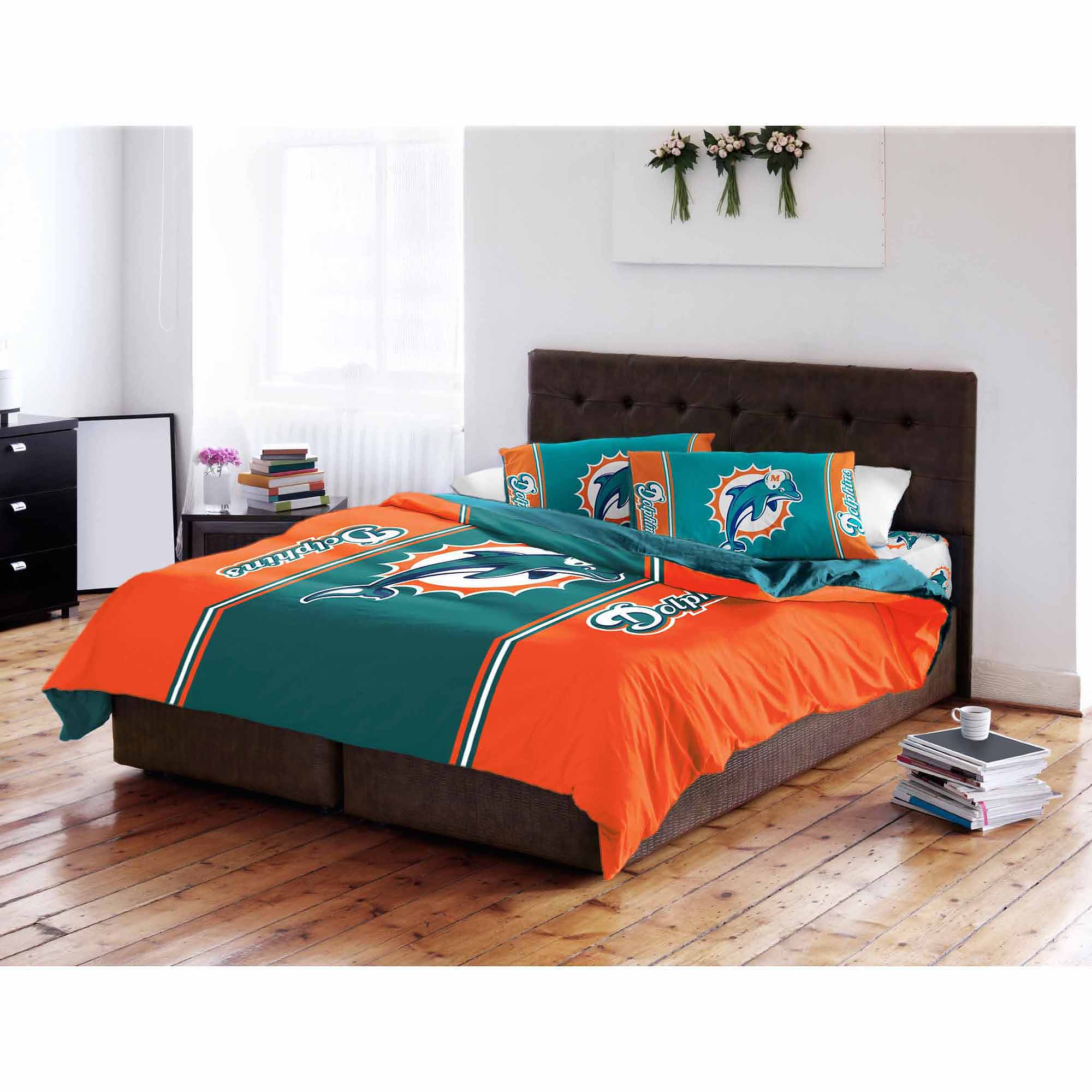 Nfl Miami Dolphins T/f Comforter