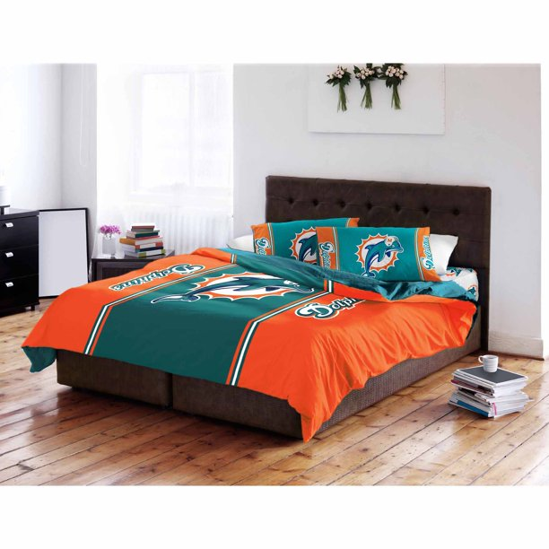 Nfl Miami Dolphins Twin Full, Miami Dolphins Bedding Sets