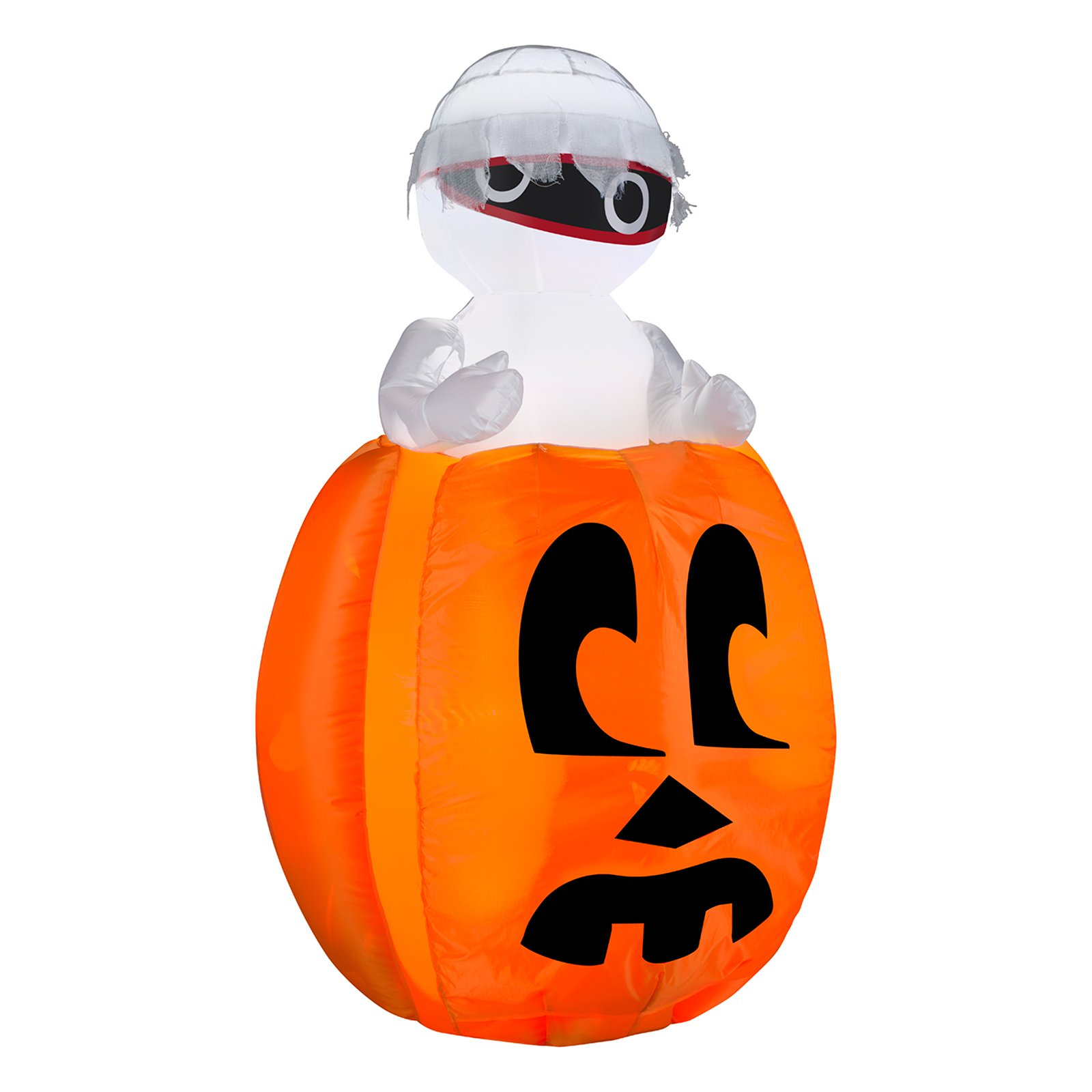 Gemmy Airblown Peeking Mummy Out Of Pumpkin Inflatable